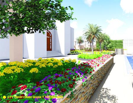 Thiết kế và thi công cảnh quan sân vườn la villa quận 2