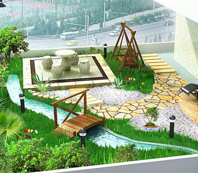 Thiết kế và thi công vườn xanh trên mái đẹp và an toàn